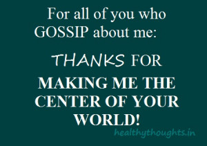 For All Of You Who GOSSIP About Me…
