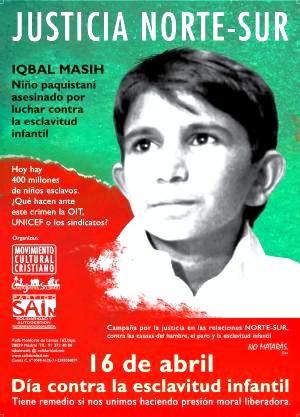 Iqbal Masih Quotes Of iqbal masih's murder,