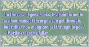 Miss Mason, Mortimer Adler: Read hard books