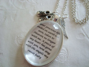 Miscarriage+memorial+pendant+necklace+loss+by+SweetlySpokenJewelry,+$ ...