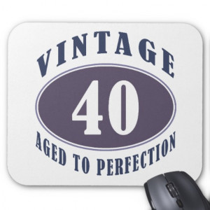 Vintage 40th Birthday Gifts For Men Mousepad