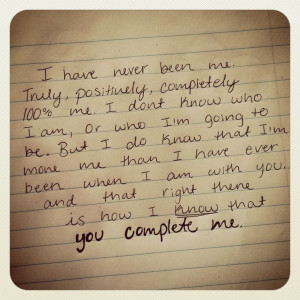 You complete me quote