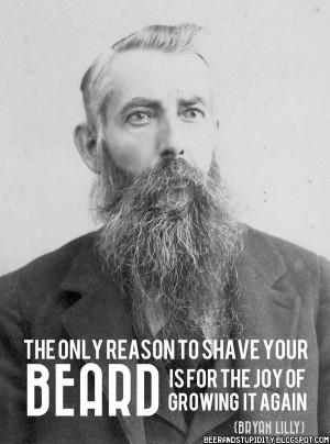 Some Beard Motivation. Go Grow One.Now!