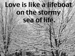 snow storm photo quote