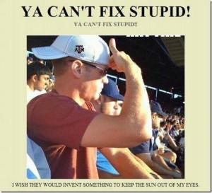 You cant fix stupid