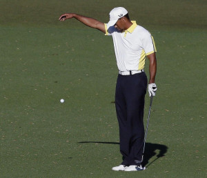 ... golf tournament Friday in Augusta, Ga. The drop was reviewed by the