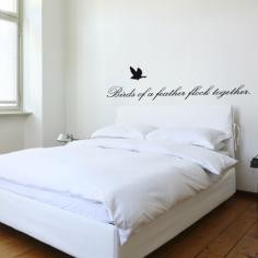 Birds of a Feather - Quote Vinyl Wall Decal $34.64