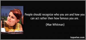More Mae Whitman Quotes