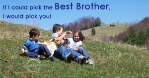 Brother Quote: If I could pick the best brother,... Brother- (3)