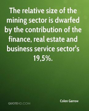 ... of the finance, real estate and business service sector's 19,5%