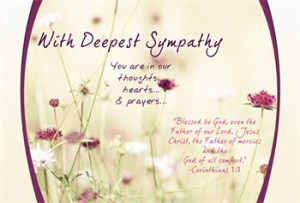 Christian Sympathy Quotes Thoughts amp Prayers