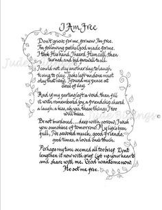Hand Scribed Calligraphy Sympathy Poem 'I by CalligraphicArtisan, $20 ...