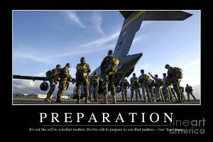 Preparation Inspirational Quote Photograph