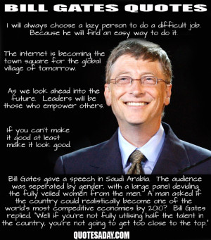 Funny pictures: Bill gates quotes, quotes by bill gates, donald trump ...