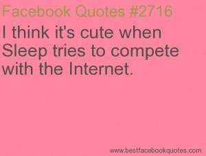 Think Cute When Sleep Tries...