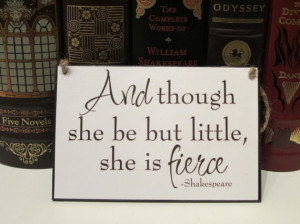 Large Craft Sign - Quotes and Phrases - William Shakespeare - And ...