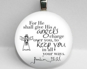 25mm Psalm 91 For He Shall Give His Angels bible quote auto prayer ...