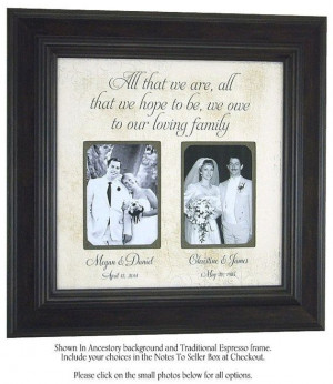bride grooms wedding frames parents wedding gifts parent wedding gifts ...