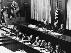 American judges (top row, seated) during the Doctors Trial. Presiding ...