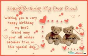 Happy Birthday My Dear Friend Quote Graphic