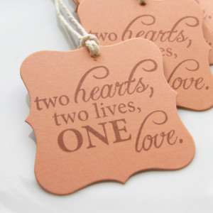 Wedding Favor Tags Love Quote