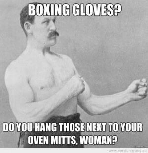 Funny Picture - Boxing gloves? Do you hang those next to your oven ...