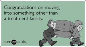 Moving Drinking Party Treatment Funny Ecard | Congratulations Ecard