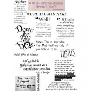 Alice in wonderland quotes - Polyvore