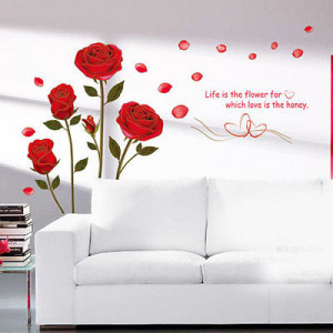 ... -Flower-Removable-Quote-Wall-Sticker-Mural-Decal-Room-Art-Decor-DIY