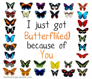 getting butterflies quotes