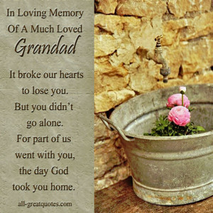 In Loving Memory Cards For Grandad – In Loving Memory Of A Much ...