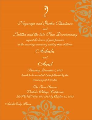 Hindu Marriage Invitation Quotes Picture