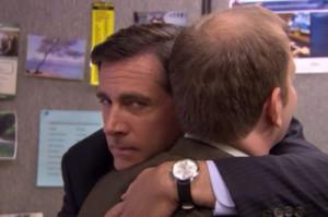 ... carell LOL classic hug Toby Flenderson Paul Lieberstein the lover
