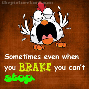 Funny Picture Of Chicken Trying To Break With Funny Sayings