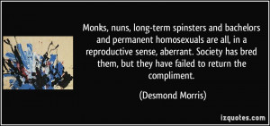 Monks, nuns, long-term spinsters and bachelors and permanent ...