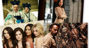 The most popular TV shows on Twitter include (clockwise from top left ...