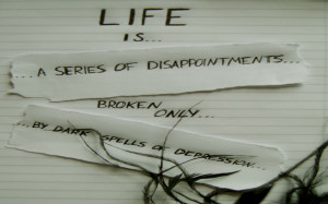 Life and Disappointments Inspirational Quote wallpaper