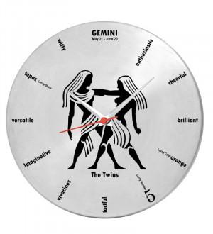 Gemini Sign Quotes Gemini Zodiac Sign Clock