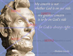 Abraham Lincoln God Quote Poster