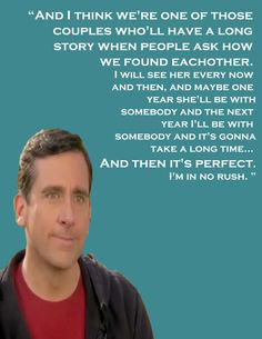 ... michael scott quote...EVER Michael And Holly Quote, Michael Scott