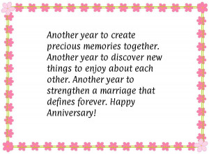 ... Wedding Anniversary Verses, Quotes & Sayings What To Write In An