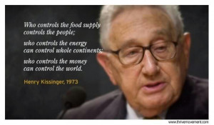 Henry Kissinger – Food Energy Money – People Continents World