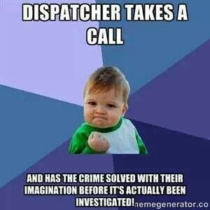 Dispatcher takes a call