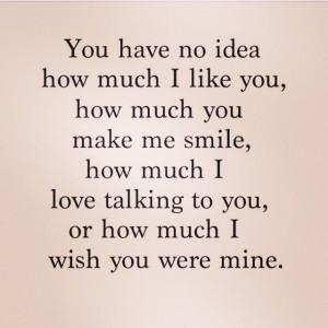 love it i wish you were mine