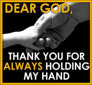 Picture of hands and a thank you to God