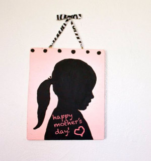 Silhouette Chalkboard Tutorial ~ A great Mother's Day gift, this ...