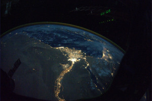 Astro_Wheels: A night view of the Nile River winding up through the ...