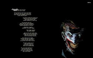 Quotes Joker Batman DC Comics