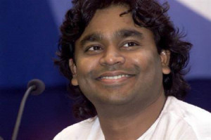 Indian composer A.R. Rahman smiles during a news conference inKolkata ...