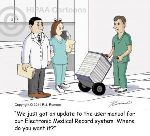 electronic medical records cartoons | EHR & EMR Cartoons — HIPAA ...